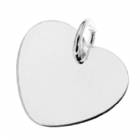 Sterling Silver Heart Charm 15mm